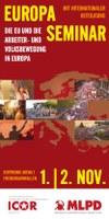 Flyer: Gemeinsames Europa-Seminar von ICOR und MLPD