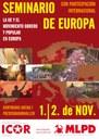 Poster del Seminario de Europa conjunto de ICOR Europa y MLPD Alemania