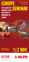 Flyer: Europe Seminar - The EU and the working-class and people's movement in Europe