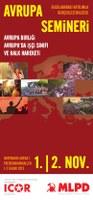 ICOR Avrupa ve MLPD'nin ortak Avrupa Semineri için el ilanı (in Turkish: Flyer of the joint Europe Seminar ICOR Europe and MLPD Germany)