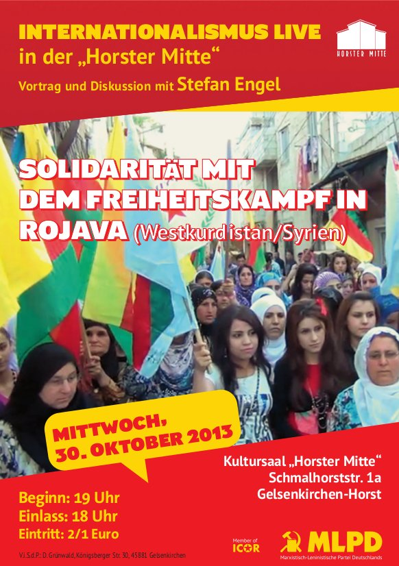 Internationalismus Live - Solidarität mit Rojava