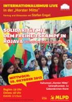Solidarität mit dem Freiheitskampf in Rojava - Einladung zur Veranstaltung
