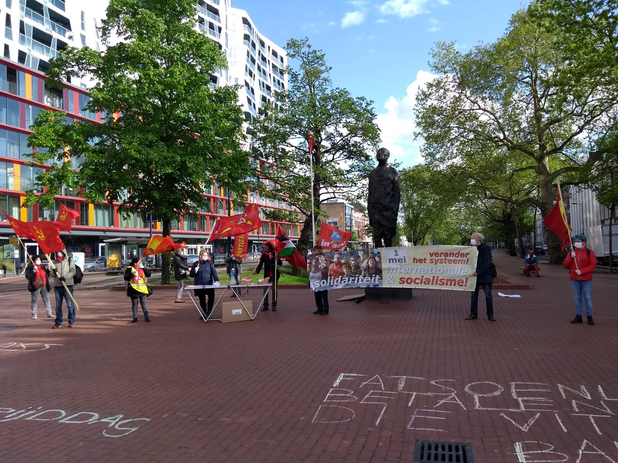 Netherlands / Rotterdam: Activity in the city centre