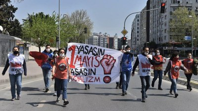 Turkey: Revolutionaries marched in small groups to traditional Taksim Square and were arrested.